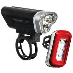Blackburn Local 75 Front + Local 20 Rear Light Set Metallic Silver