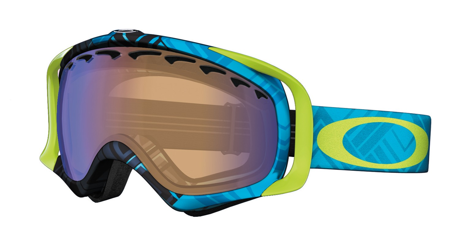 82ff802be8b7 Oakley Crowbar Snowboard Ski Goggles. Braided Blue - Blue Iridium