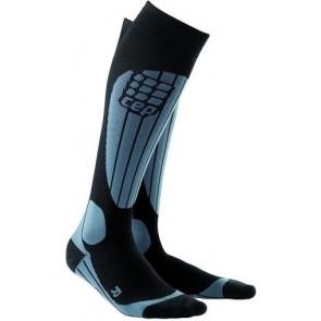 CEP Compression Mens Skiing O2 Socks Grey IV (X-Large)